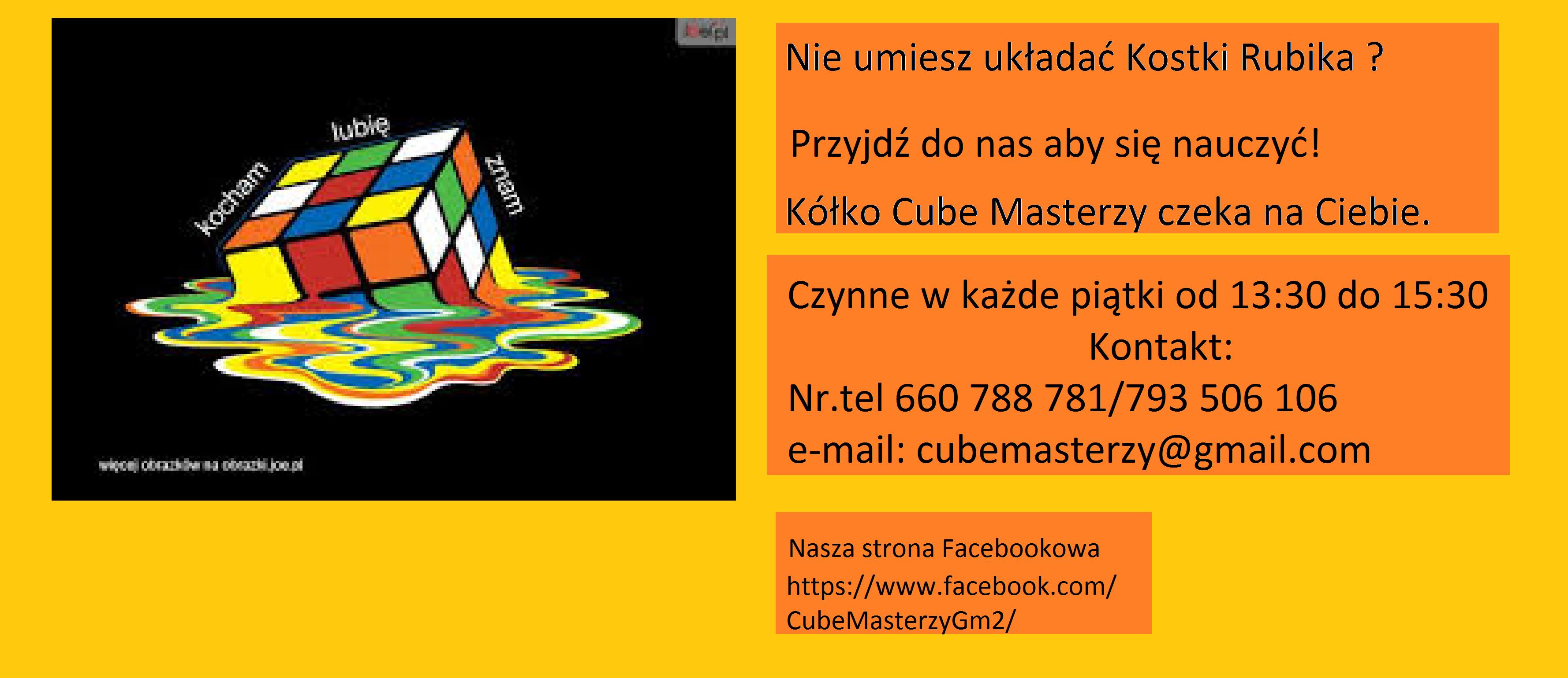 Cube Masterzy zapraszają!