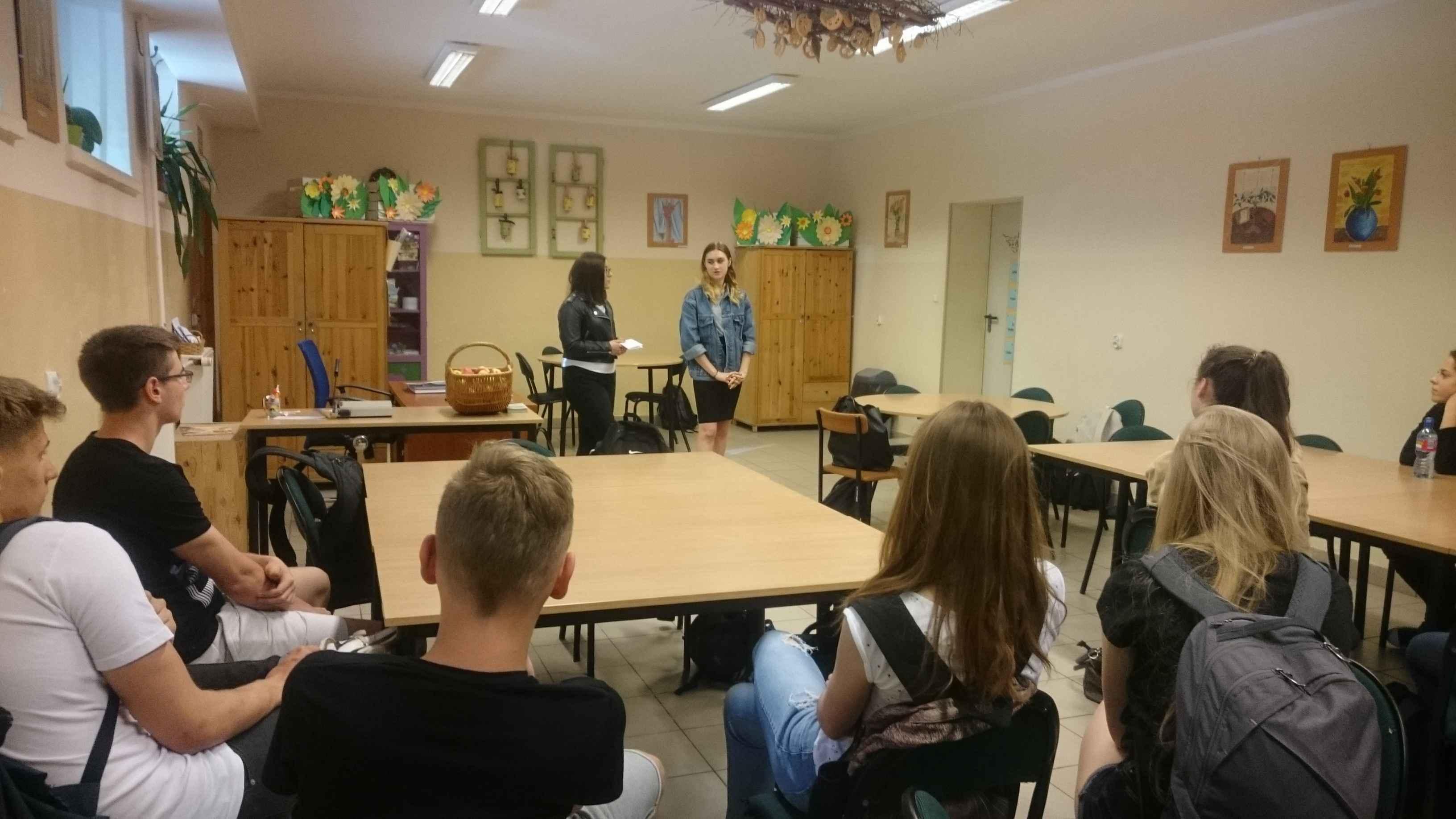 Młodzież z LO nr 6 w Szczecinie w naszym gimnazjum