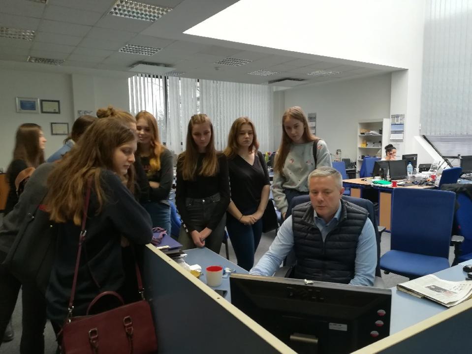 Z doradcą zawodowym w TVP3 w Szczecinie