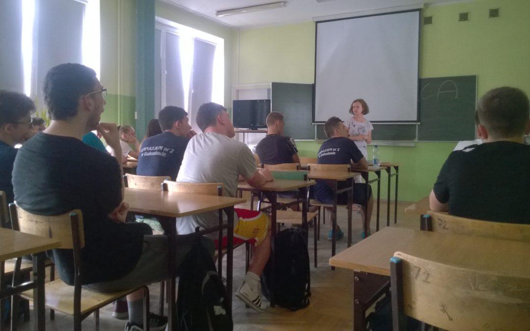 III b na otwartych lekcjach geografii w Zespole Szkół nr 1 w Goleniowie