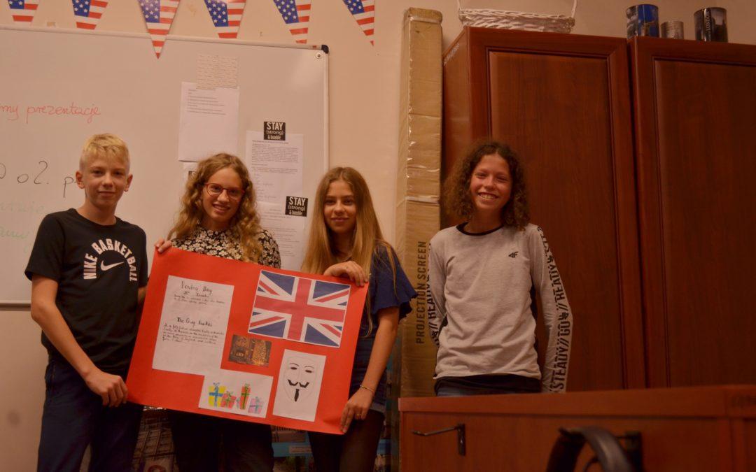 """Pierwszy projektowy piątek dla klasy 7a – """"Wielka Brytania bez tajemnic"""""""