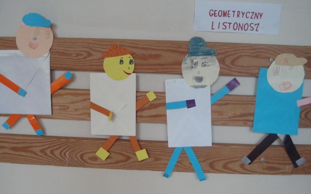 Geometryczny listonosz czyli zabawa z poznanymi figurami