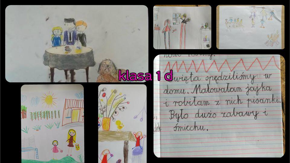 Wielkanocne motywy w aktywności domowej klasy 1 b i klasy 1 d